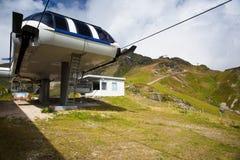 Obertauern,奥地利- 2015年8月16日:从Obe的夏天风景 免版税库存照片