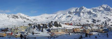 Obertauern ośrodek narciarski Obrazy Stock
