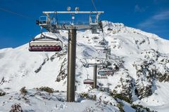 Obertauern ski chairlift, Obertauern, Radstadter Tauern, Salzburger Land, Austria stock photos