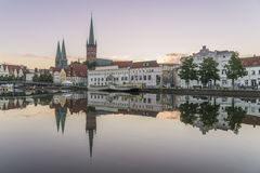 Obertave in Luebeck during sunrise Stock Image