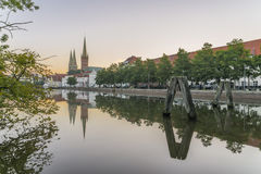 Obertave in Luebeck during sunrise.  Royalty Free Stock Photos