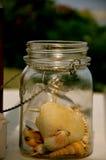 Oberteile in einem Glas im Sommer Lizenzfreie Stockbilder