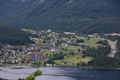 Obertraun照片在Hallstatt 库存图片