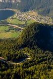 Obertraun,湖Hallstatt -从Dachstein-Krippenst ein的看法 免版税图库摄影