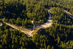 Obertraun, lac Hallstatt - vue d'ein de Dachstein-Krippenst image stock