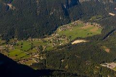 Obertraun, See Hallstatt - Ansicht von Dachstein-Krippenstein Stockfoto