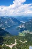 Obertraun sjö Hallstatt - sikt från Dachstein Royaltyfri Fotografi