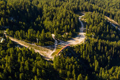 Obertraun sjö Hallstatt - sikt från Dachstein-Krippenst ein Fotografering för Bildbyråer