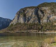 Obertraun village near Hallstatter sea in Austria. In spring sunny nice day stock photos