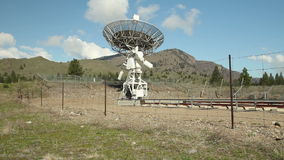 Obervatório astrofísico de rádio da autoridade, movimento da câmera video estoque