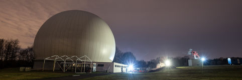 obervatório astronômico bochum Alemanha na noite Foto de Stock