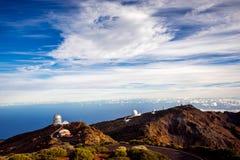 Obervatório astronômico na ilha de Palma do La Fotos de Stock