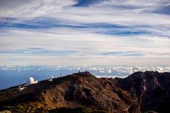 Obervatório astronômico na ilha de Palma do La Fotografia de Stock