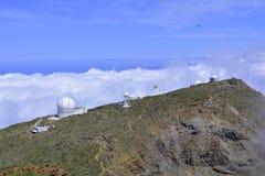 Obervatório astronômico no La Palma, Ilhas Canárias, Espanha Fotos de Stock Royalty Free