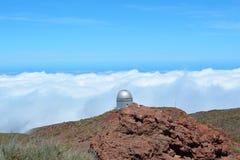 Obervatório astronômico situado no La Palma, Ilhas Canárias, Espanha Imagens de Stock