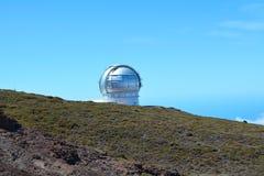 Obervatório astronômico situado no La Palma, Ilhas Canárias, Espanha Imagem de Stock