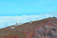 Obervatório astronômico situado no La Palma, Ilhas Canárias, Espanha Imagem de Stock Royalty Free