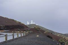Obervatório astronômico Teide, Tenerife, Ilhas Canárias Foto de Stock Royalty Free