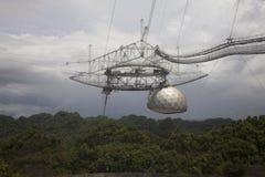 Obervatório de Arecibo, telescópio de rádio na municipalidade de Arecibo, Porto Rico fotos de stock royalty free