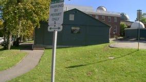 Obervatório de faculdade de Harvard, Massachusetts no Estados Unidos video estoque