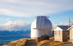 Obervatório de John da montagem em Mt John NZ Imagem de Stock Royalty Free