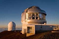 Obervatório de Mauna Kea Fotos de Stock