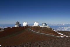 Obervatório de Mauna Kea Fotos de Stock Royalty Free