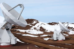 Obervatório de Mauna Kea Fotografia de Stock Royalty Free