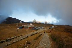 Obervatório em montanhas de Andes na Venezuela imagem de stock