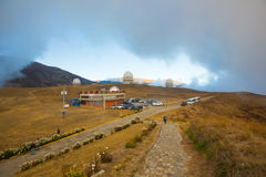 Obervatório nas montanhas na Venezuela imagens de stock