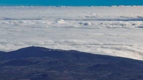 Obervatório sobre o timelapse das nuvens, Tenerife de Teide, Espanha filme
