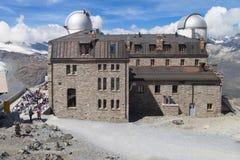 Obervatório astronômico de Gornergrat Foto de Stock