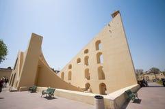 Obervatório astronômico Jantar Mantar Jaipur, Ind Imagem de Stock