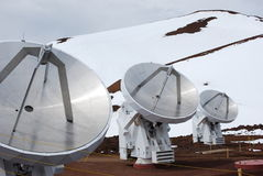 Obervatório de Mauna Kea Imagem de Stock Royalty Free
