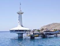 Obervatório marinho subaquático perto de Eilat, Israel Fotos de Stock