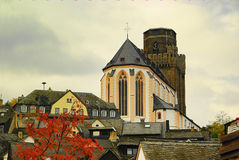 Oberwesel Martin church Royalty Free Stock Image
