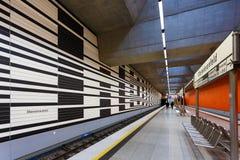 Oberwiesenfeld gångtunnelstation i Munich Royaltyfri Foto