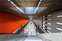 Oberwiesenfeld gångtunnelstation i Munich Royaltyfria Bilder