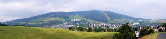 Oberwiesenthal And Fichtelberg In The Erzgebirge Stock Images
