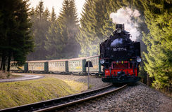 OBERWIESENTHAL, GERMANY - APRIL 02:  Historical Train of Fichtel Royalty Free Stock Photo