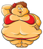 Obese stock illustration