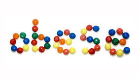 Obese. The word Obese written with candies Stock Images