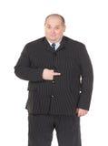 Obese businessman making gesturing Stock Image