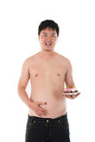 Obese chinese. With belly photo Royalty Free Stock Images