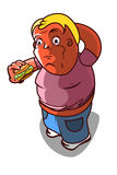 Obese - fast food Royalty Free Stock Photos