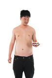 Obese fat asian male Royalty Free Stock Photography