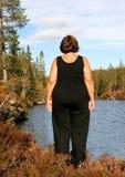 Obese kvinna Arkivbild