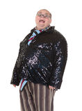 Obese man with an outrageous fashion sense Royalty Free Stock Image
