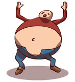 Obese Person, Vector Illustration Stock Photography