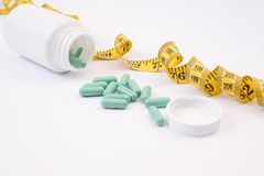 Obese pharmaceutical reduction vitamins medication gym lid cap s stock photos